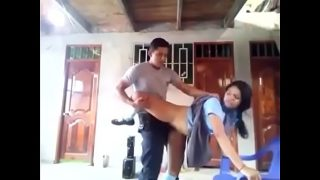 Big tits indian school girl fucked hard by bf in standing pose