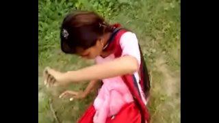 Hyderabad Desi Girlfriend Fucking Outdoor sex with lover