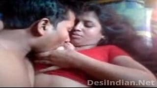 Desi house wife Boobs Pressed Nipple Sucked by lover