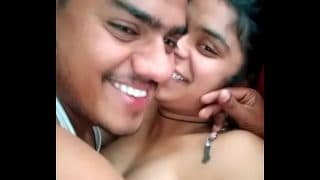 muslim collage girl enjoy with her lover in birthday