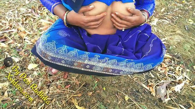 desi indian young dehati bhabhi outdoor sex in village