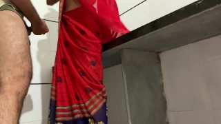 Brother fucking hard his sister rumi in a red saree in the kitchen when parents not home hindi audio