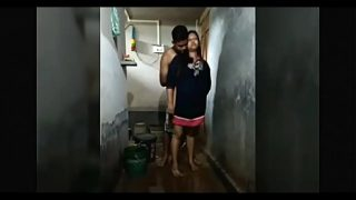 My sister is recorded in the bathroom bhojpuri porn